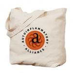 round_autoinflammatory_alliance_logo_tote_bag