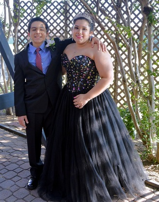 Jeri's son Will celebrating his sister Carmen's quinceanera. Jeri says Carmen is a big part of Will's team that helps cope and fight SoJIA.