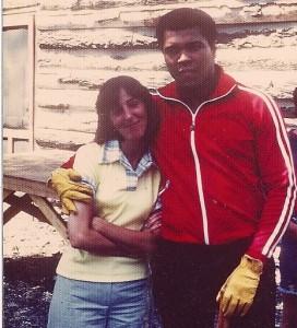 Carol with Muhammad Ali.